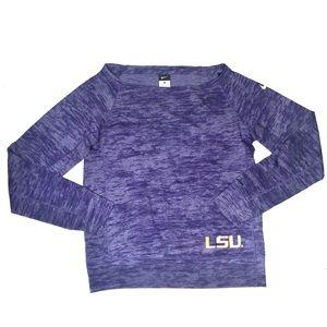 Nike LSU Tigers Boat Neck Sweater Size Small